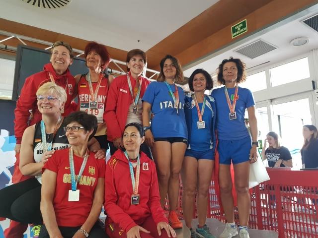 Ai campionati europei di Alicante Anna Famea marciando fa il pieno di medaglie